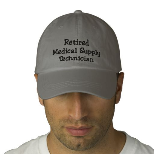 Retired Medical Supply Technician Cap