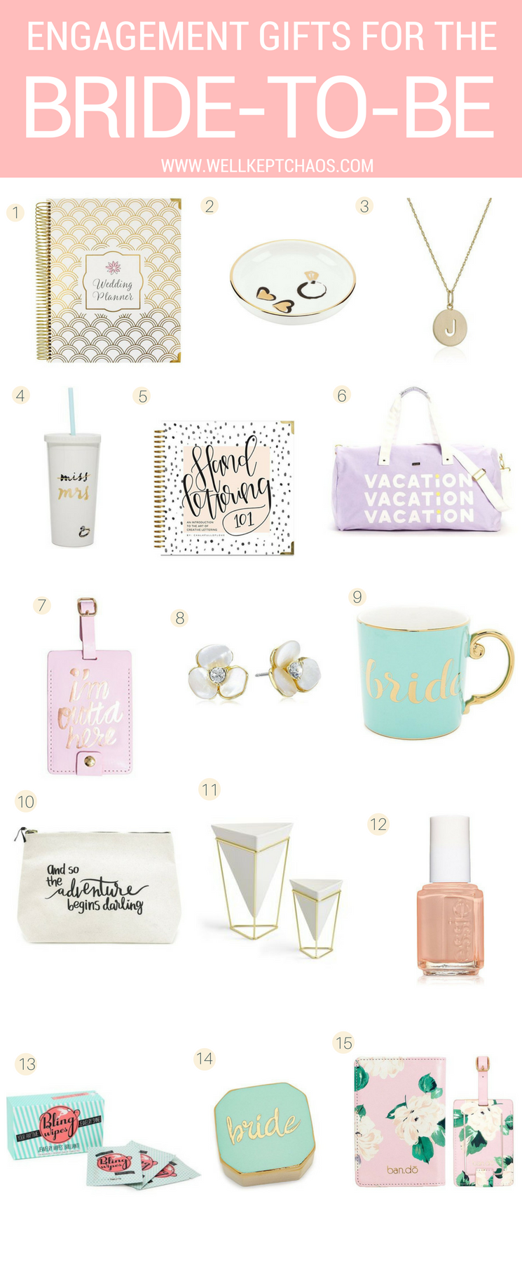 Engagement Gifts For The Bride To Be Wellkeptchaos Bridal Shower