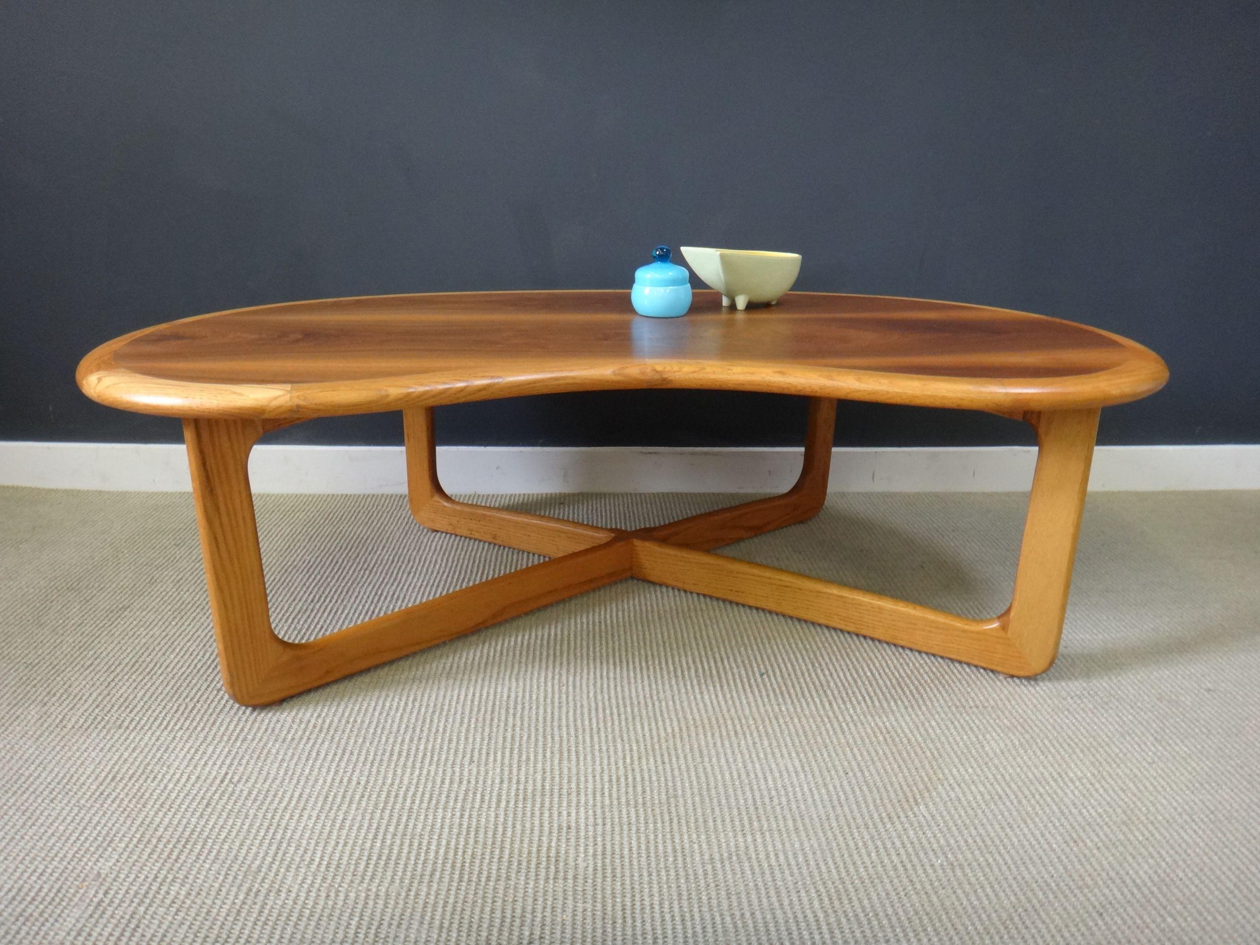 Mid Century Lane Kidney Shaped Coffee Table