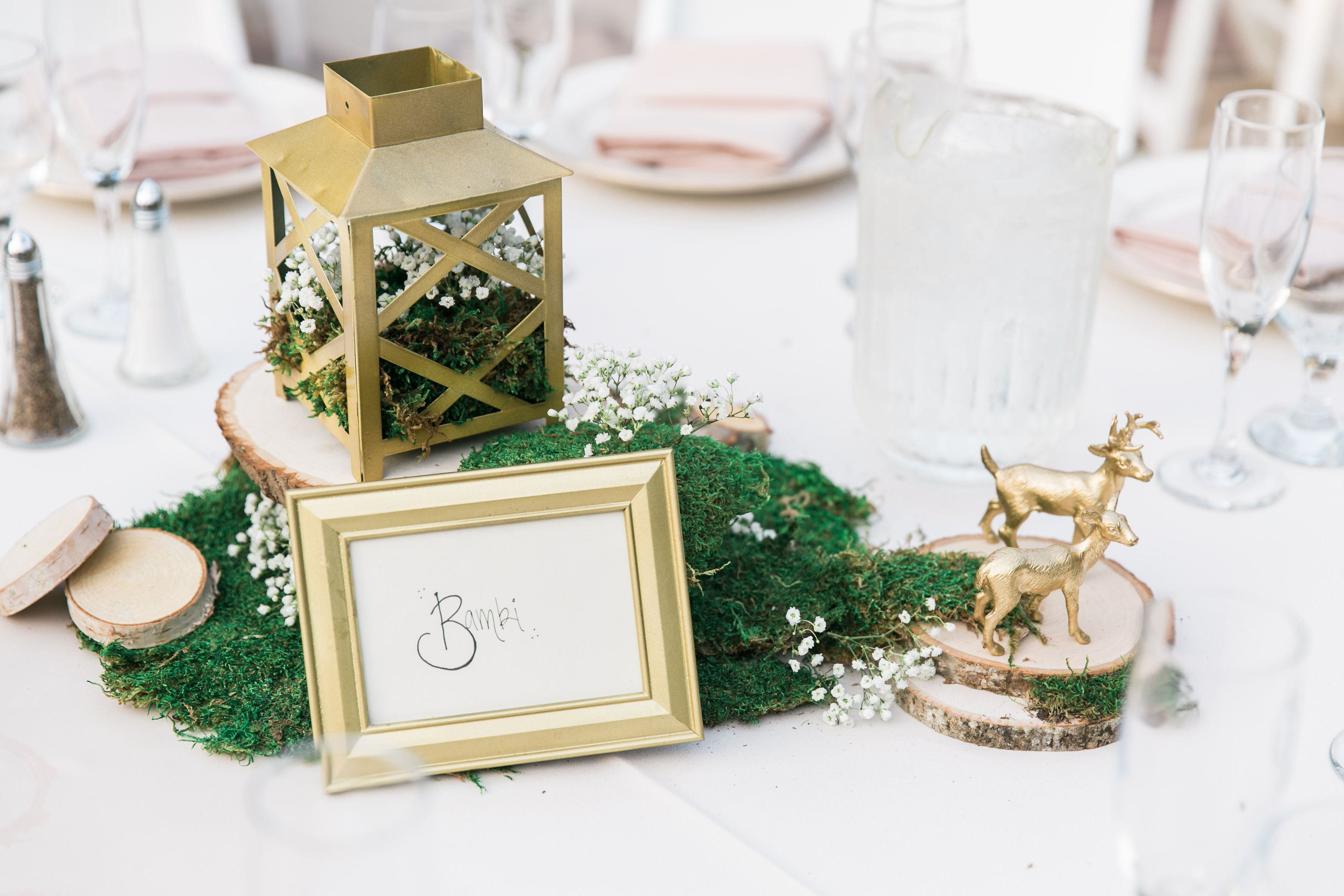 Our Disney Bambi inspired wedding table - gold rose blush gold and ...