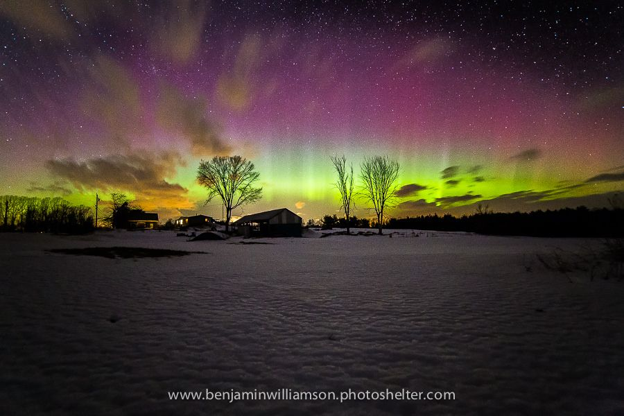 Northern Lights in Maine... The bands of light pulsating across the sky were absolutely mesmerizing.