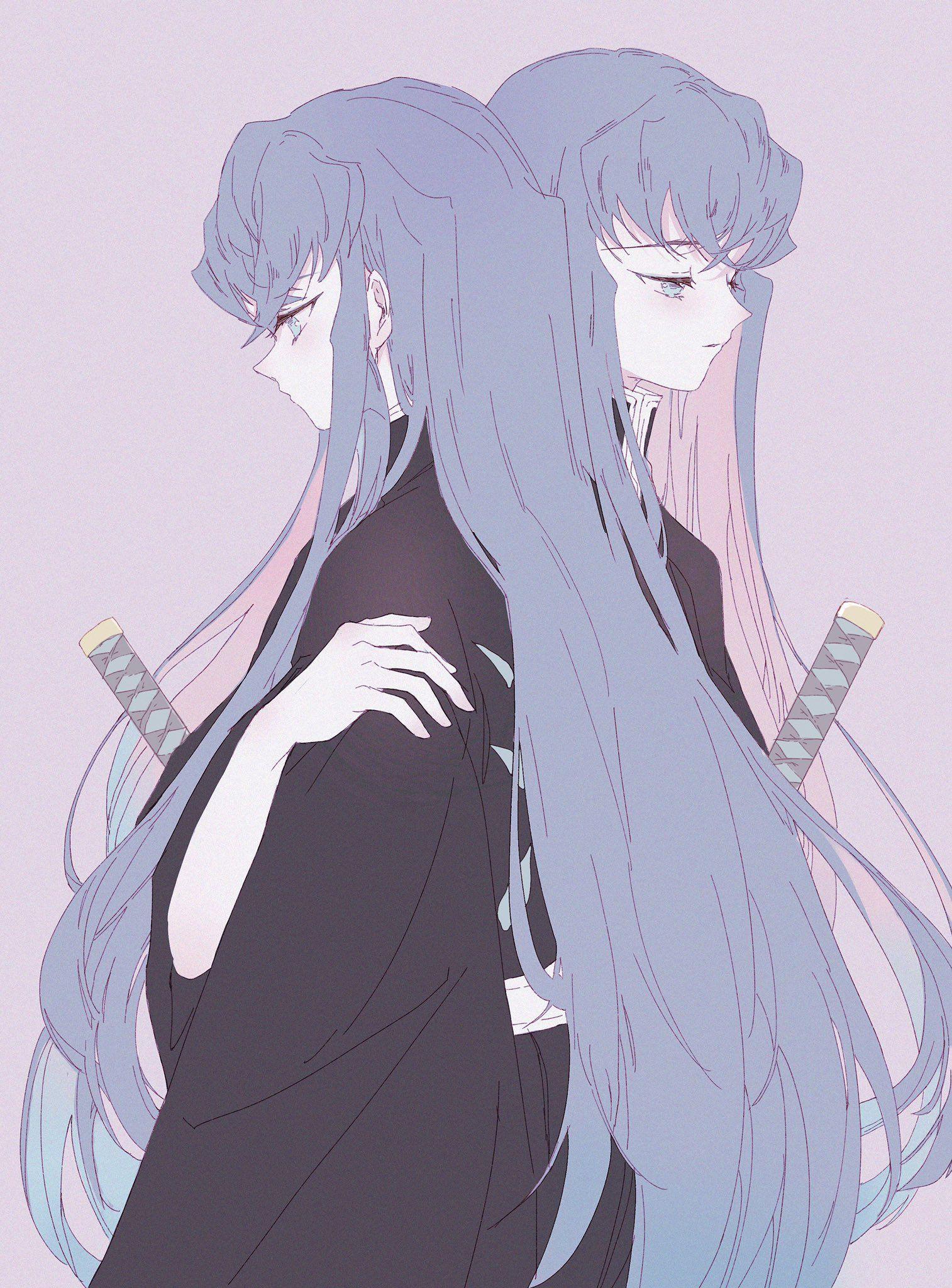 Natsukiki On Twitter In 2020 Anime Blue Art Demon