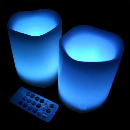 Find Channel Changer in the dark with Neon Candles