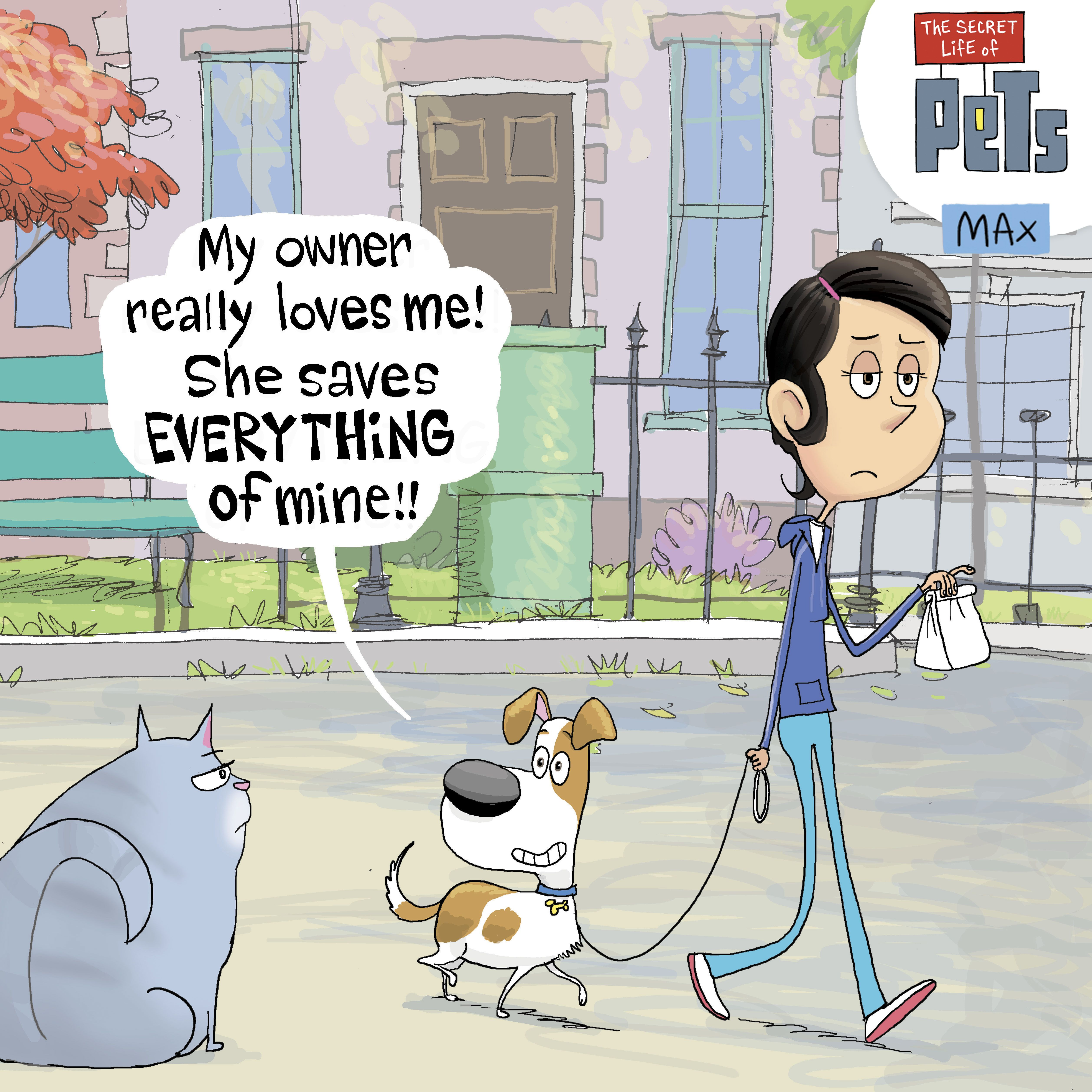 Check out this funny comic of a loyal pet owner doing her