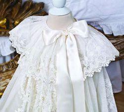 Sew a Royal-Inspired Netting Ruffle - Christening dress collar