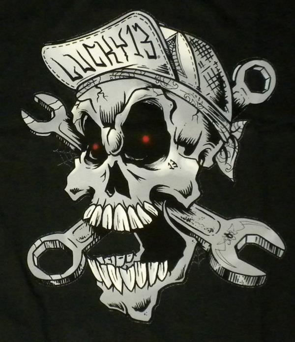 Lucky 13 Evil Skull Tattoo Biker Art Skull Art