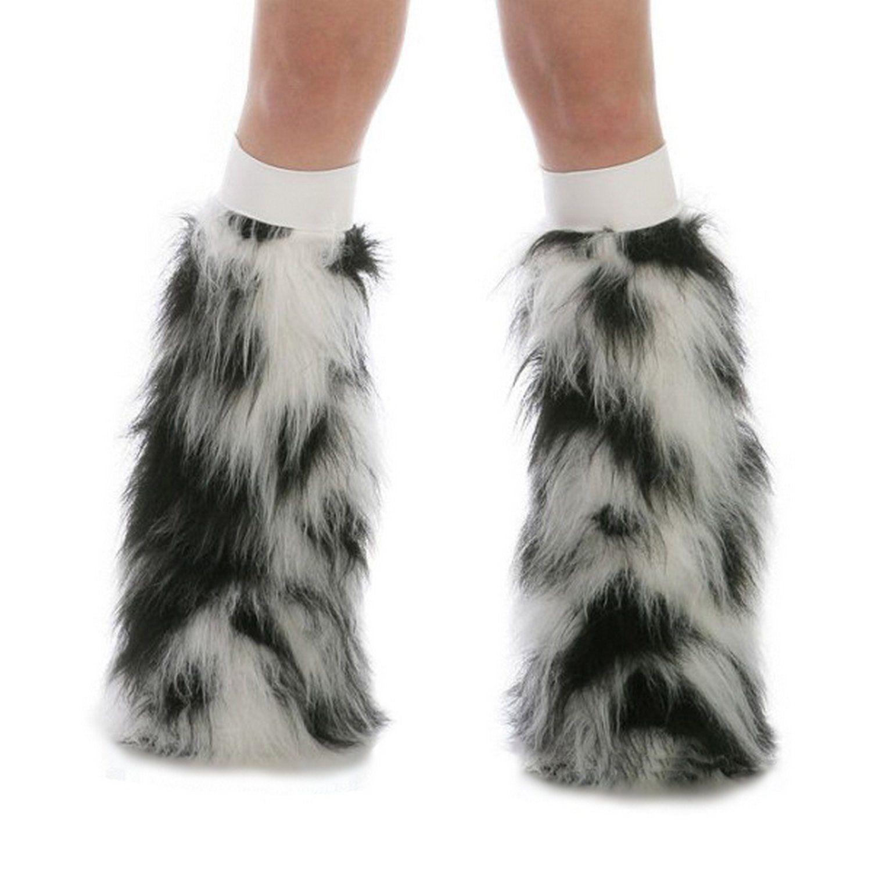 bb45cd56c5470c Leg Warmers 163139: Tryptix White Black Gogo Dancer Boot Cover Leg Warmer  Fluffies White Band Edc -> BUY IT NOW ONLY: $49.95 on eBay!