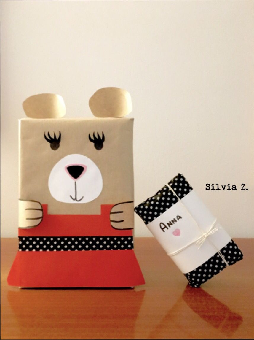 Ideas for packaging!  Funny bear...for her!  Made by Silvia Z. with ❤️