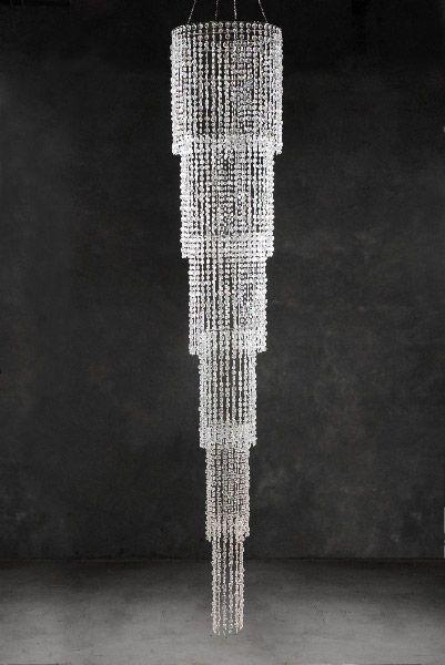 Crystal Chandelier Iridescent Cascade 9ft Crystal Chandelier Hanging Chandelier Diy Chandelier