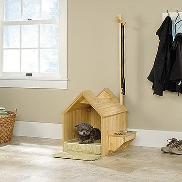 Who says a dog house can't be inside?