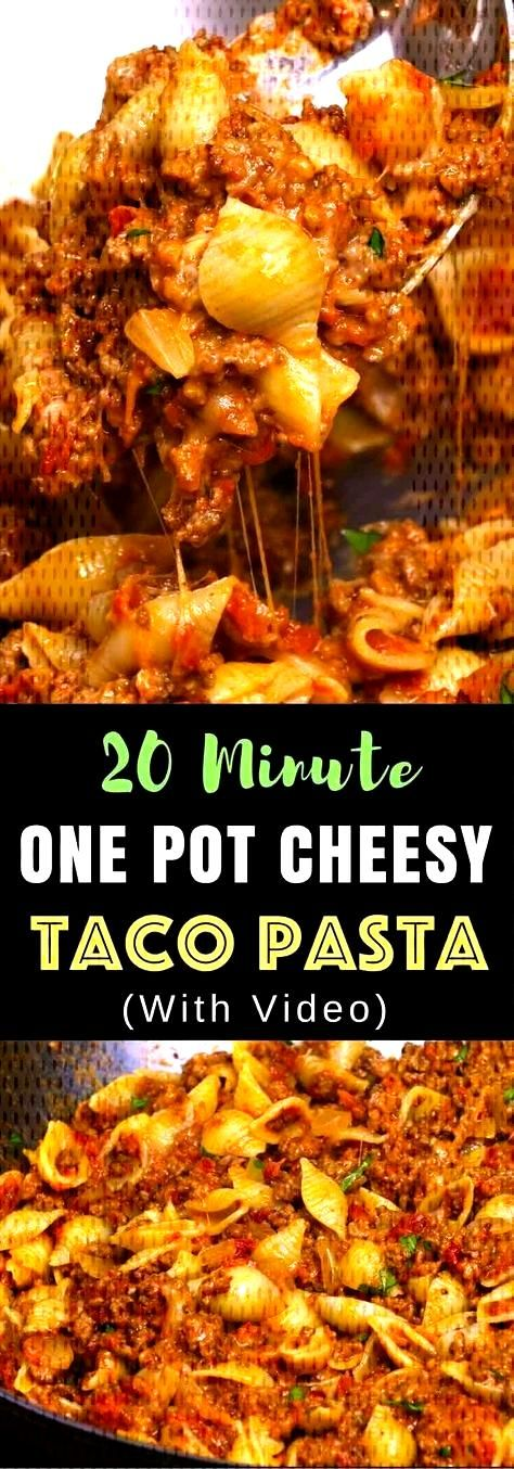One-pot Cheesy Taco Pasta – One of the easiest quick dinner recipes. It's loaded with ground be