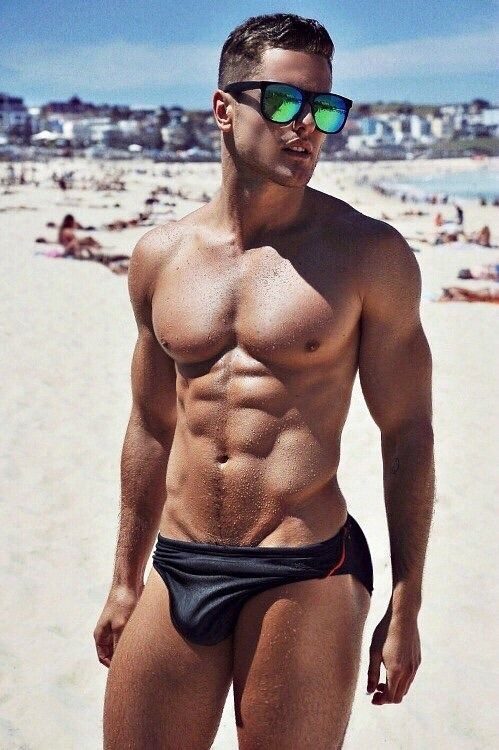 Gay  Nude Beach, Pool, Outdoors  Body Beautiful  Man -3428