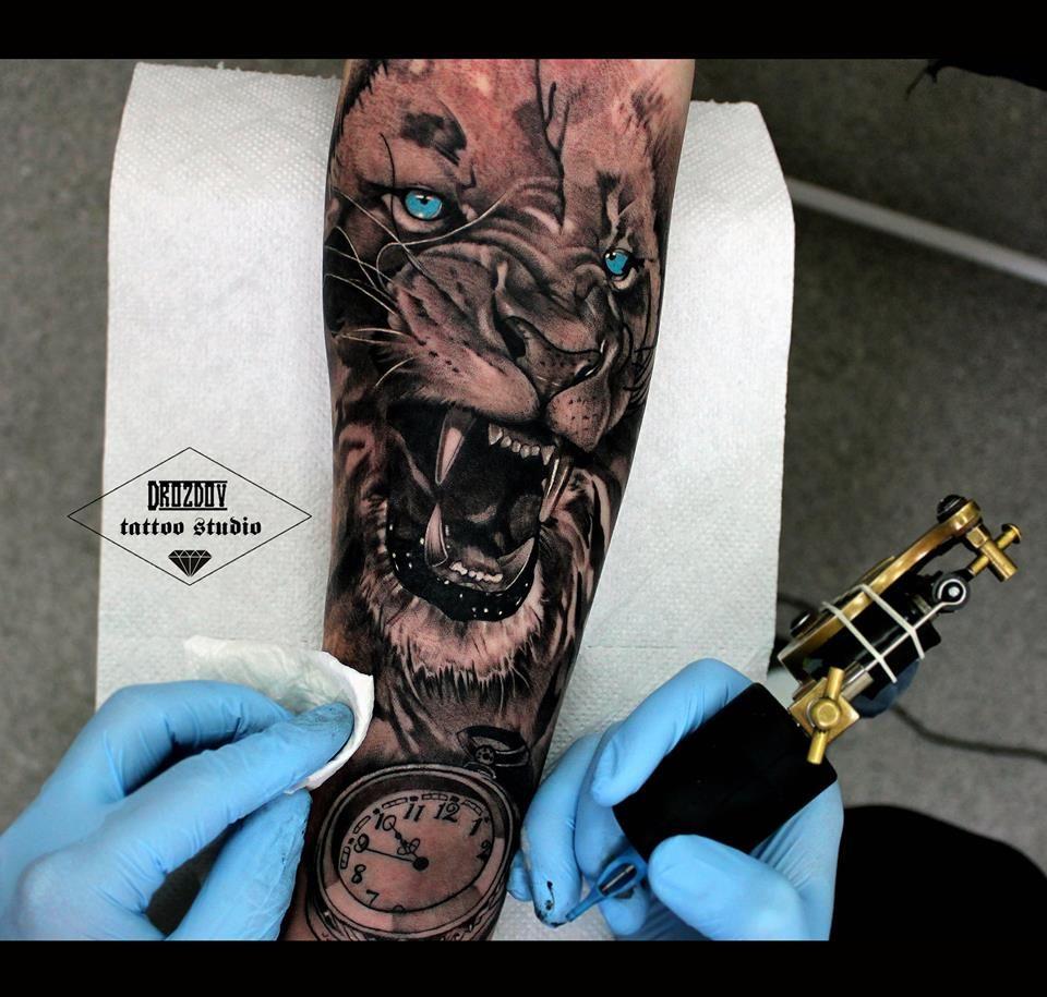 Vladimir Drozdov Lion Tattoo Sleeves Tattoo Sleeve Men Lion Tattoo