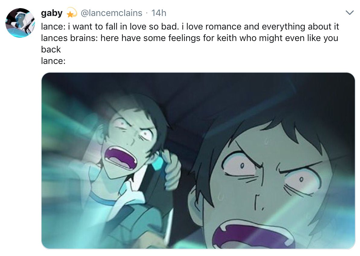 this is so true tho  it's pretty obvious lance has crush on