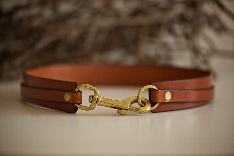 KSLeatherCraft | handmade waist belt with brass clasp