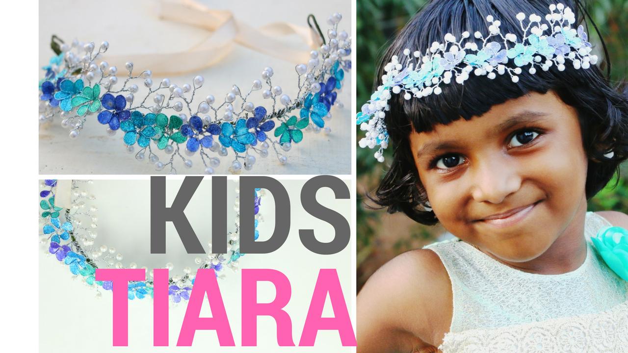Diy Kids And Bridal Crowntiara Using Nail Polish And Pearl Beads