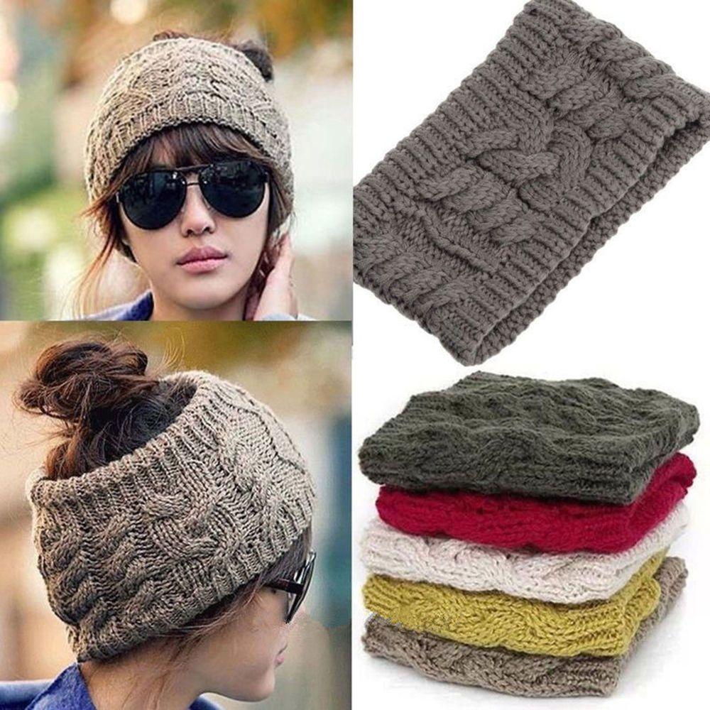Soft Women Winter Warm Knit Wool Beret Hat Beanie Braided Crochet