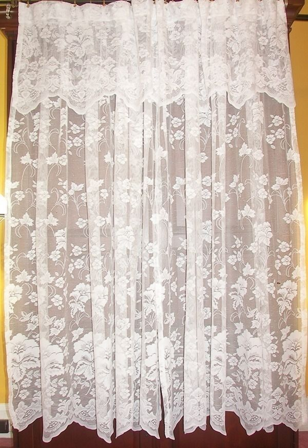 4 Pairs Sets Vtg French Country Victorian Net Floral Lace Drapes Curtains 12 Lot Unbranded