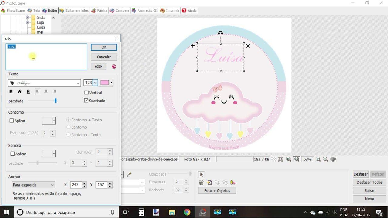 Tutorial Como Baixar Editar E Imprimir Personalizados Do Blog