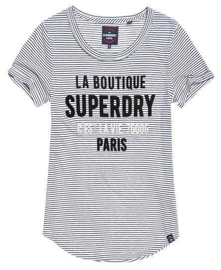 Superdry Parisian Stripe T Shirt Navy Parisian Stripes Tops Stripe Tshirt