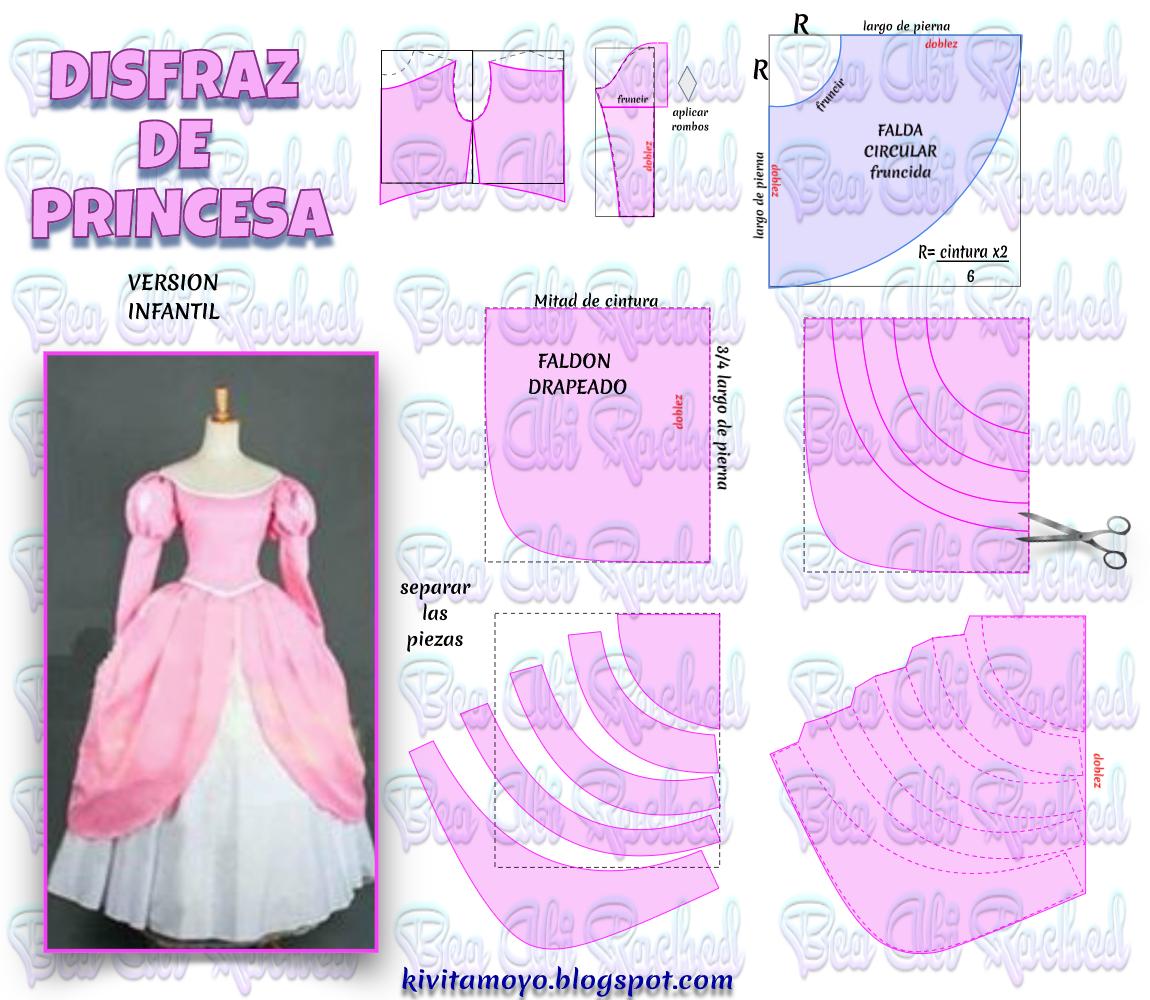 KiVita MoYo : VESTIDO DE PRINCESA - Version Infantil | Patrones ...