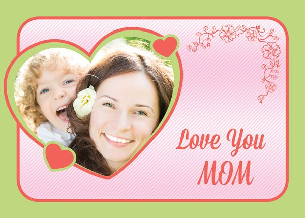 Free Custom Photo Mothers day Card template in PSD format Free - mothers day card template