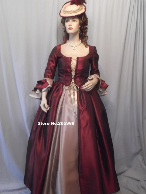 Old fashioned dresses 1700s
