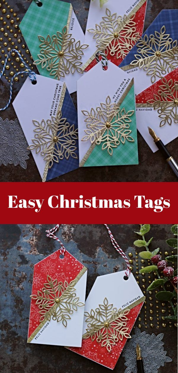 Marie Snowflake Christmas Tags -   19 diy Christmas tags ideas
