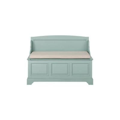 Sadie Antique Blue Storage Bench with BackEntryway Entrance halls Remodels and r... -  Sadie Antique
