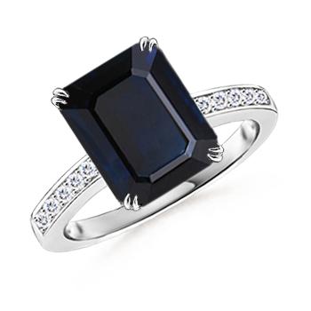 Angara Sapphire Cocktail Ring in Platinum wVTJkwIqM