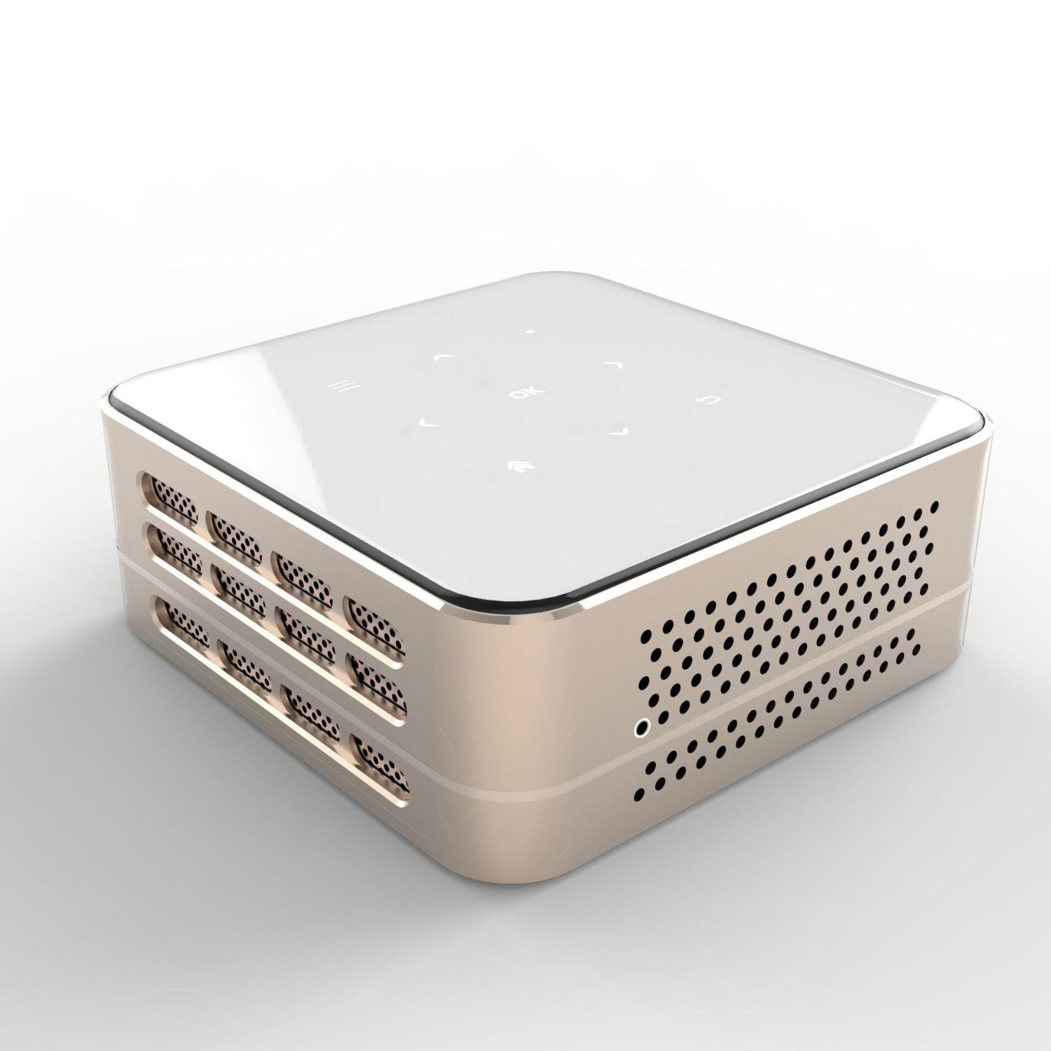 Ivation Pro3 Portable Rechargeable DLP Projector Streams