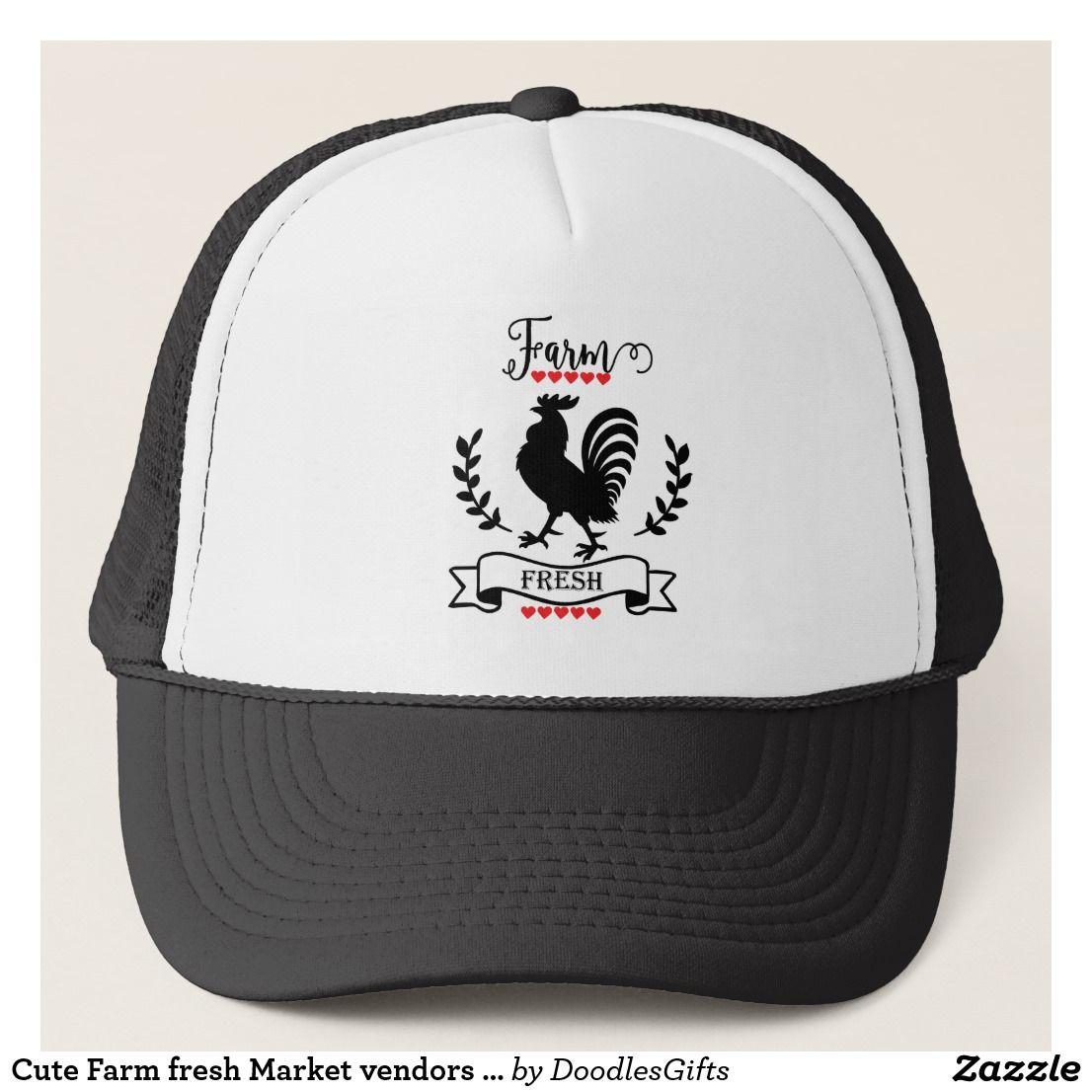 Cute Farm Fresh Market Vendors Hat Hats Cute Trucker Hat