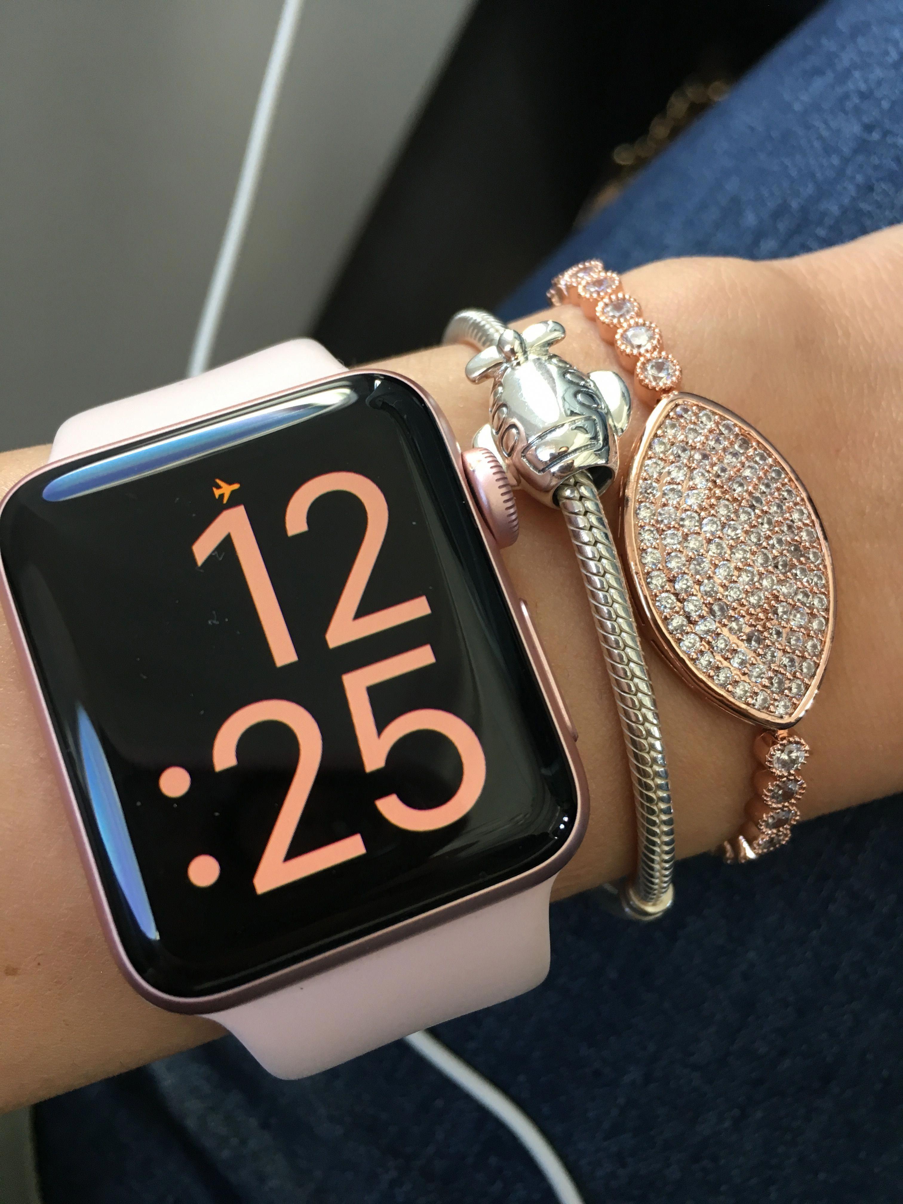 Rose Gold Apple Watch And Pandora Applewatchseries1 Apple Watch Fashion Rose Gold Apple Watch Gold Apple Watch