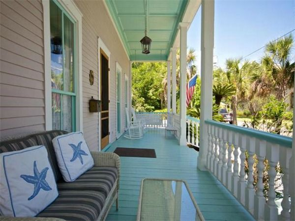 Old Beach House 414 Broome Amelia Island Fl 4 Painted Porch Ceiling Floor