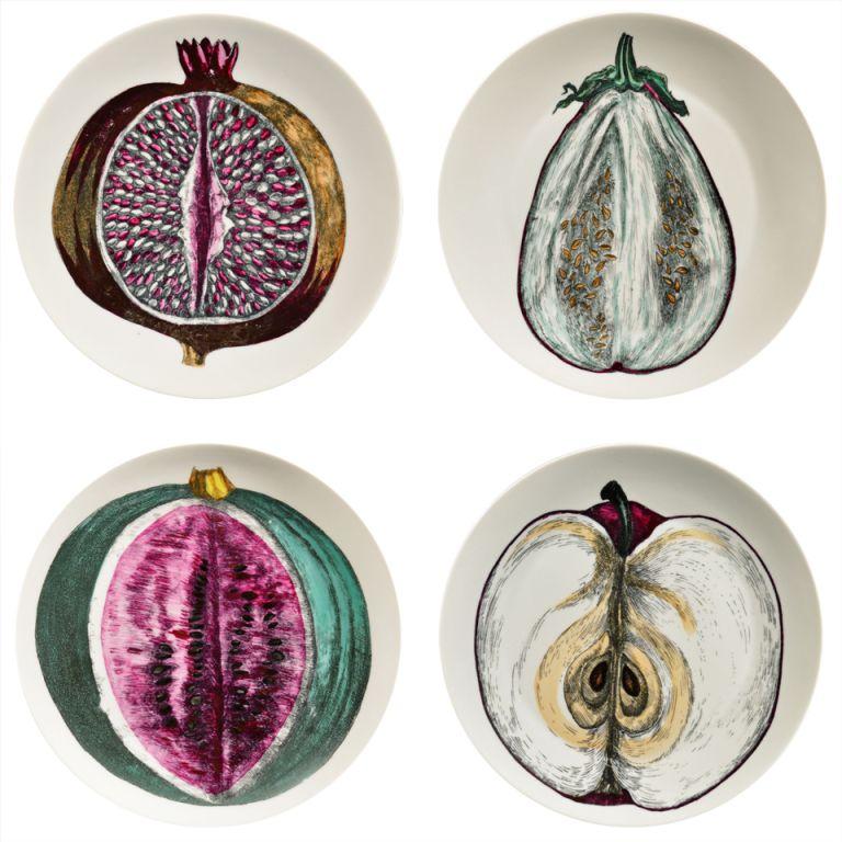 A Set Of Four Piero Fornasetti Pates FromThe Sezioni Di