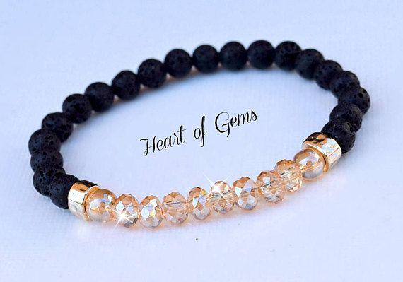 Essential Oil Diffuser Bracelet/Lava Stone/Gemstones/Yoga Bracelet/Healing Bracelet
