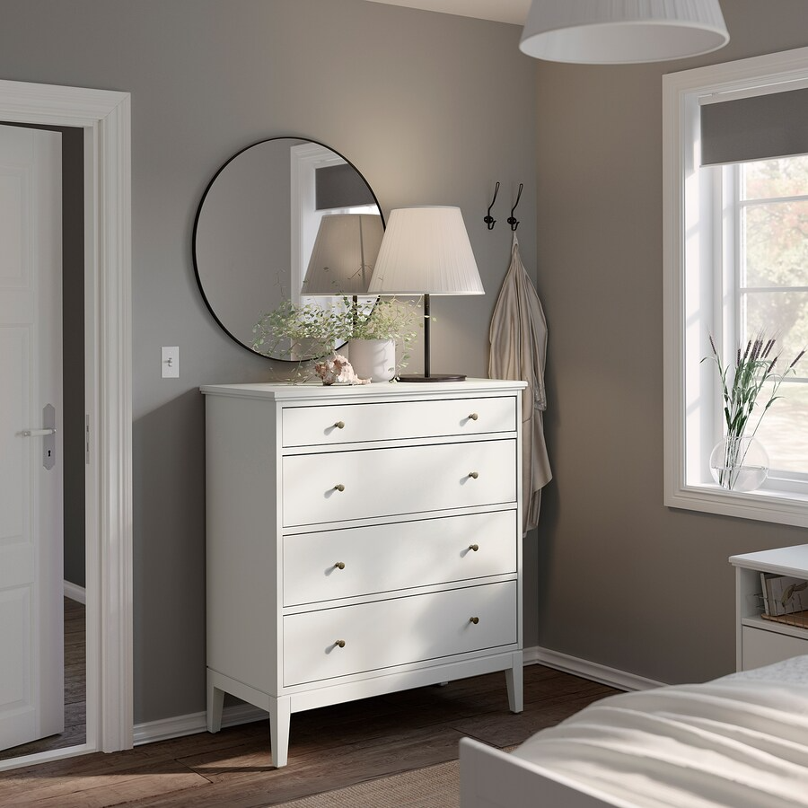 Idanas 4 Drawer Chest White 41x461 2 Ikea In 2021 Painted Drawers White Chests Ikea [ 900 x 900 Pixel ]