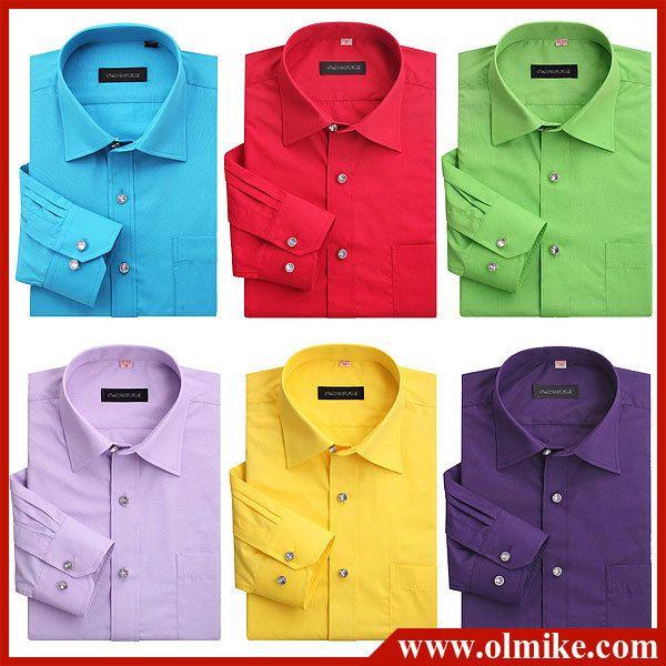 Son camisas formales de muchos colores. Son de moda en fiestas y ...