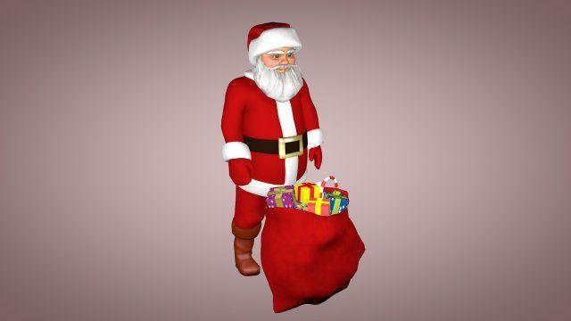 Santa Claus 3D Model  max  c4d  obj  3ds  fbx  lwo  stl @3DExport