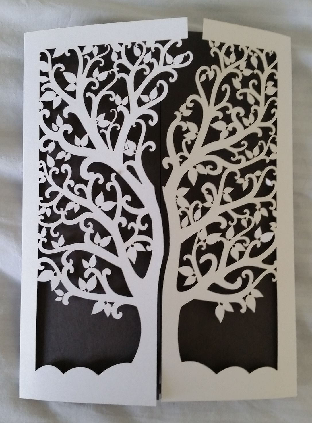 Elegant Tree Of Life Laser Cut Wedding Invitation Cards Invites