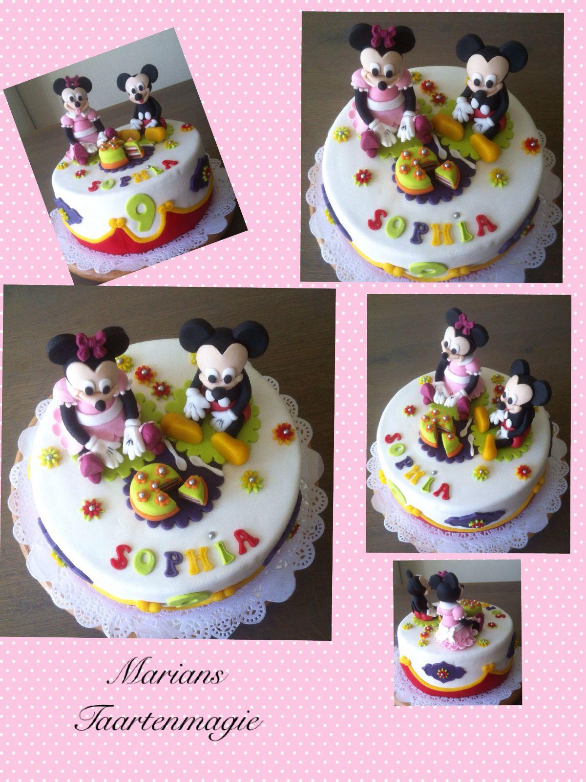 Voor Sophia de Disney taart