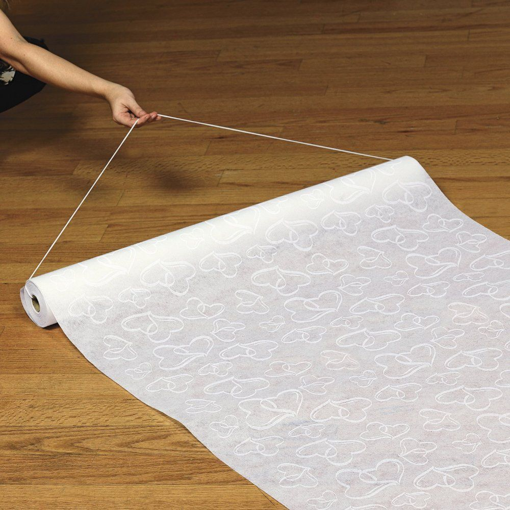 Polyester White Two Hearts Wedding Aisle Runner | Wedding Details ...