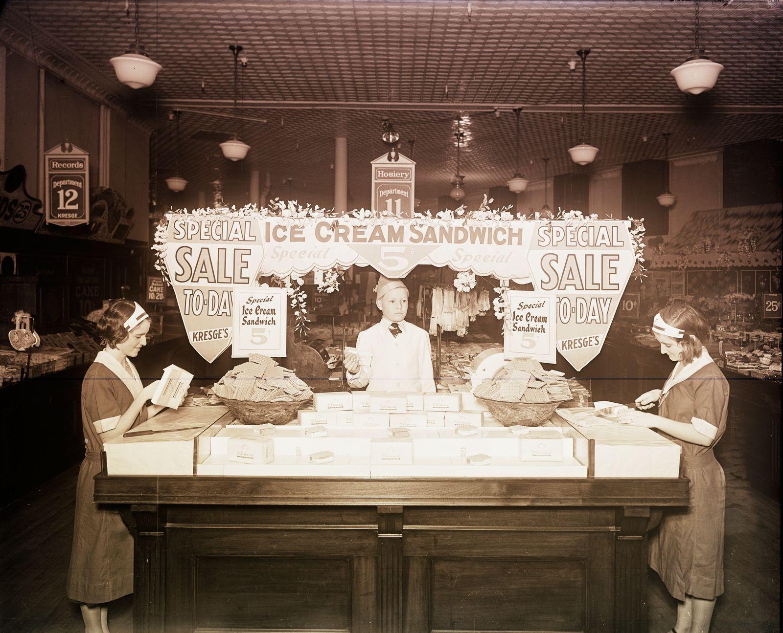 Ice Cream Sandwich Special At S.S. Kresge In Paterson NJ   1925