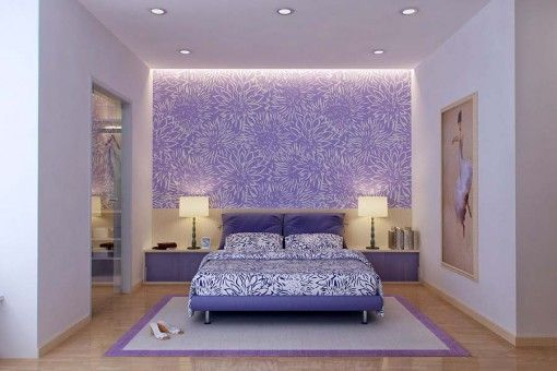 Bedroom, The Good Design Of Color Combination For Bedroom With Purple And  White Color Combination