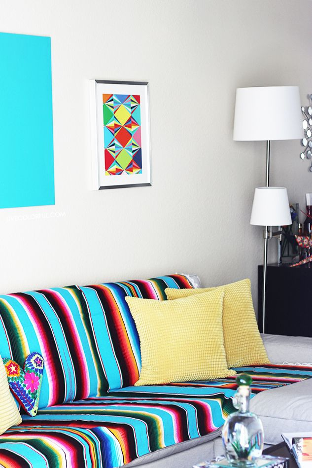 How to Decorate with a Mexican Serape | Mexicans, Southwest style ...