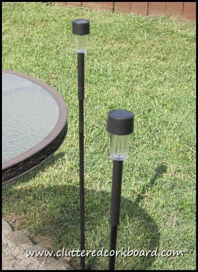 Expo Stands Lightsee : Need a taller solar light? see how i added height to solar lights