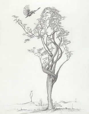 Tree Dancer in Flight by Mark Johnson