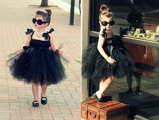 perfect halloween costume for a little brunette girl mini audrey in breakfast at tiffanys - Halloween Costume Brunette