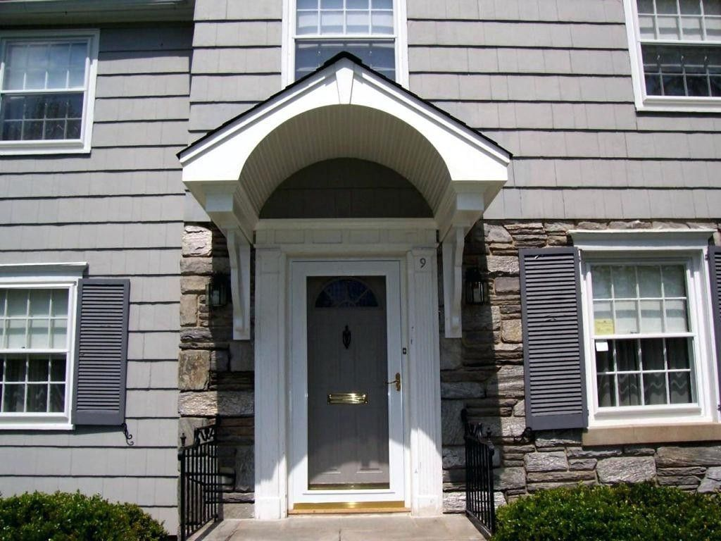 Aluminum Door Awnings Front Portico Kits Small Roof Over Called Door Overhang House With Porch Exterior Doors