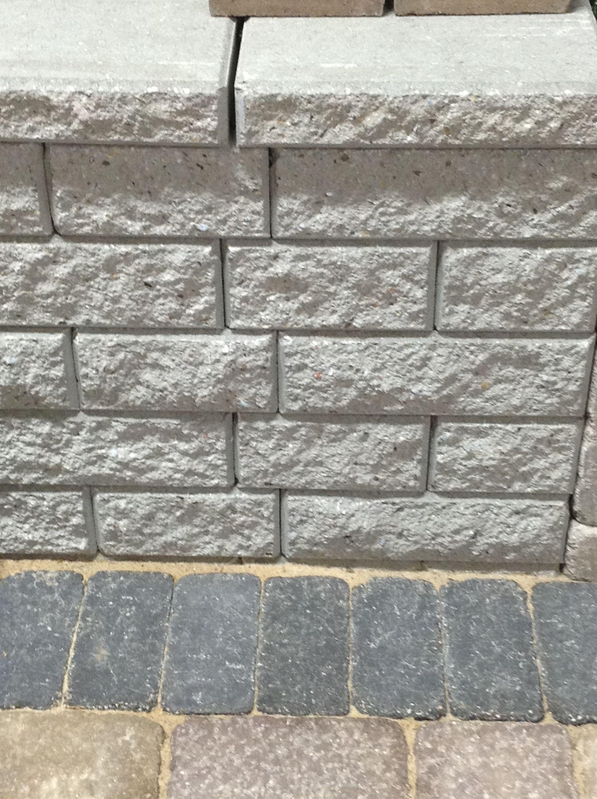 Best Way Stone Brick Retaining Wall Garden Lock Collection In Grey Outdoor Improvements Retaining Wall Backyard Design